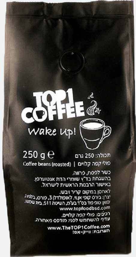 The TOP1 Coffee - Wake Up! Beans 250-gram Bag